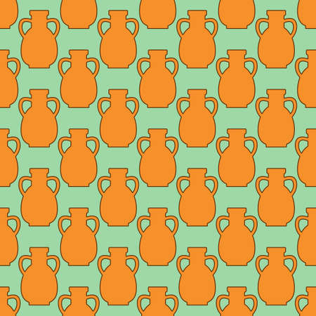 earthenware: Seamless pattern of the pitcher icons