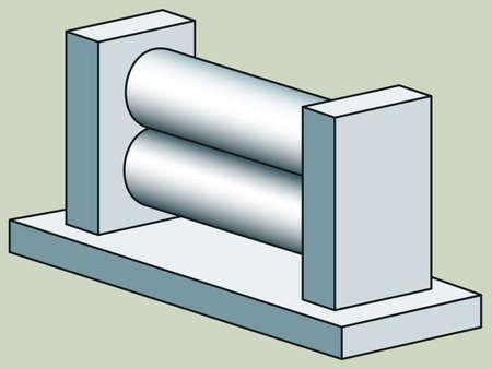 flatter: Illustration of the rolling press icon Illustration