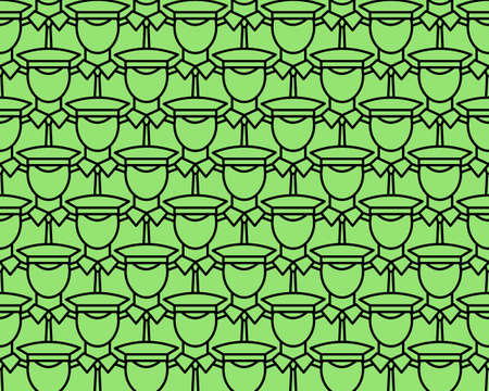 warlike: Seamless pattern of the flat cartoon servicemans