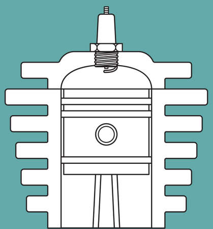 sparking plug: Illustration of the motor engine icon Illustration