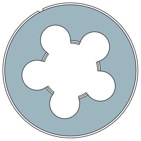threading: Illustration of the threading die tool Illustration