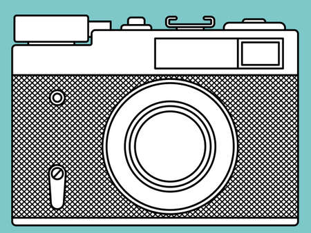 outmoded: Illustration of the vintage photographic camera