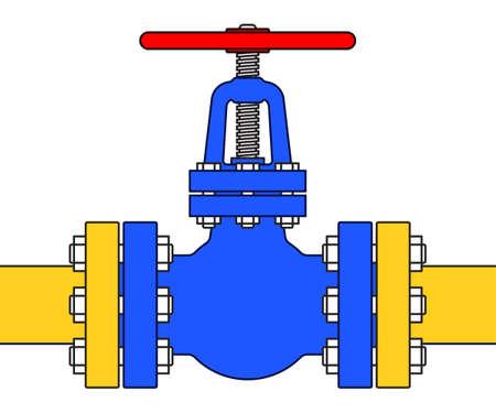shutoff: Illustration of the pipeline valve stopcock icon