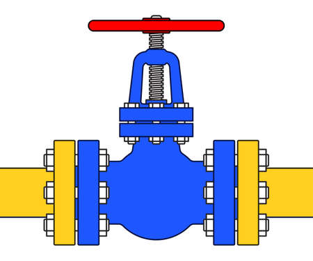 Illustration of the pipeline valve stopcock icon