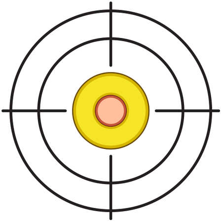 gunshot: Illustration of the target and cartridge icon Illustration