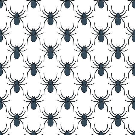 spidery: Seamless pattern of the spider icons