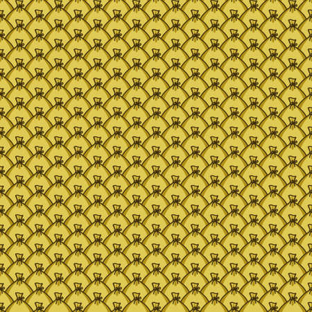 Seamless pattern of the bags lot