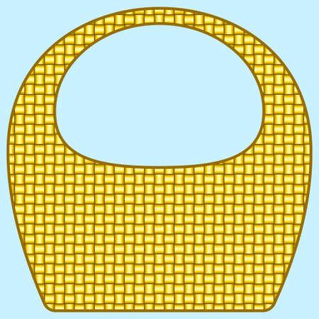 wattled: Illustration of the flat basket icon Illustration
