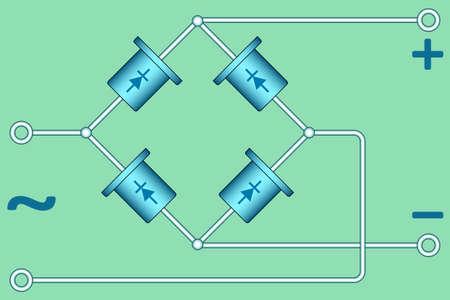 diode: illustration of the diode bridge diagram