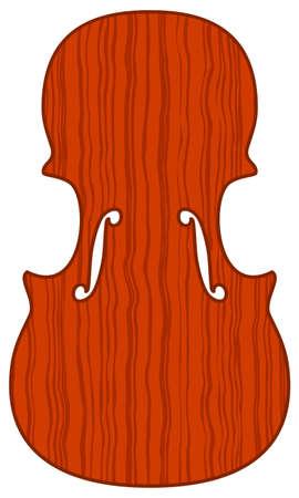 sounding: Illustration of the violin soundboard icon