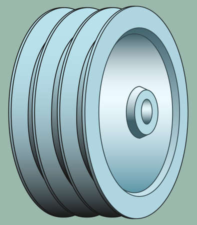 triplex: Illustration of the triple groove pulley icon