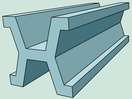 ferrous metals: Illustration of the abstract steel shape