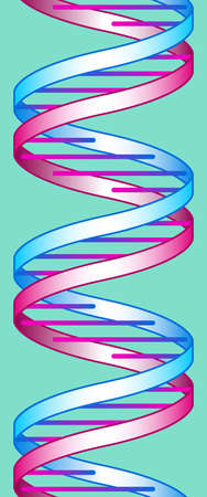 determinant: Illustration of the abstract concept DNA seamless decoration