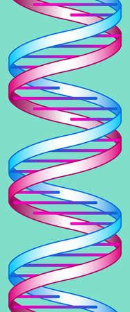 Ilustración de la decoración sin fisuras concepto de ADN abstracta