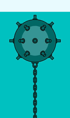barrage: Illustration of the naval mine icon Illustration