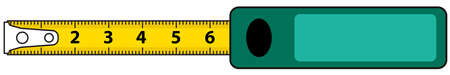 centimetre: Illustration of the tape measure icon Illustration