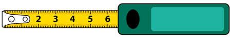 Ilustración del icono de la cinta métrica
