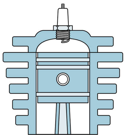 explosion engine: Illustration of the concept motor engine icon