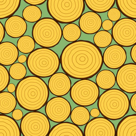 firewood: Seamless pattern of the firewood stack