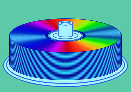 blu ray: Illustration of the dvd disks stack icon Illustration