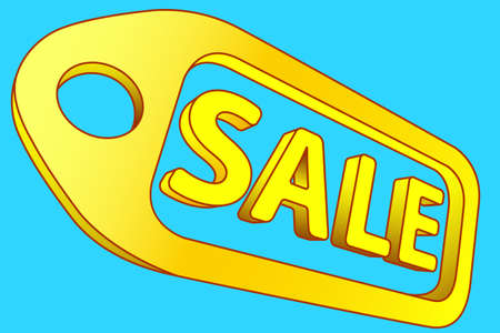 commercialism: Illustration of the concept sale label icon Illustration