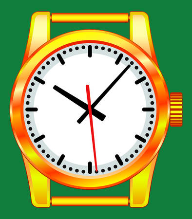 mounting: Illustration of the gold wristwatch icon