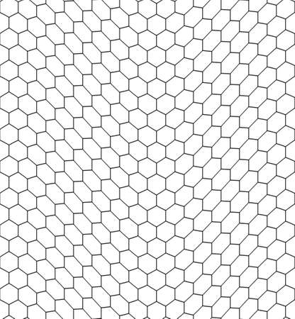 gauze: Seamless pattern of the bent hexagonal net