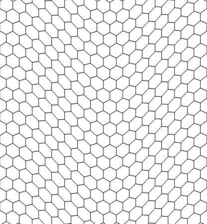 crooked: Seamless pattern of the bent hexagonal net
