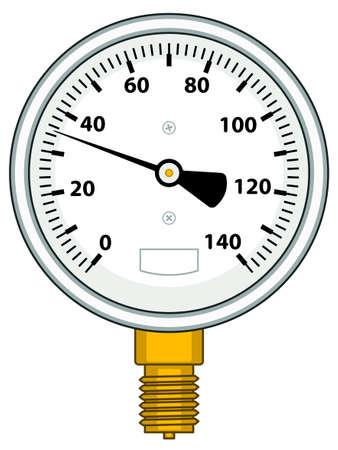 gauging: Illustration of the manometer icon Illustration