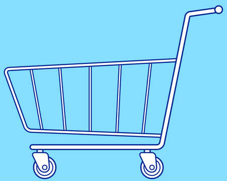 shopping cart icon: Illustration of the shopping cart icon