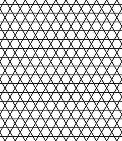 gauze: Seamless ornamental pattern of the hexagonals and triangles elements Illustration