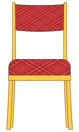 padded stool: Illustration of the classic domestic padded chair icon