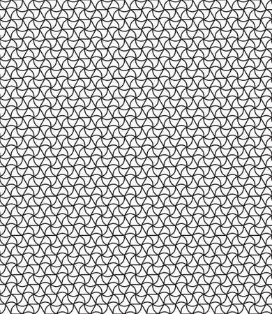 gauze: Seamless geometric pattern of the hexagonals and curved triangles elements Illustration