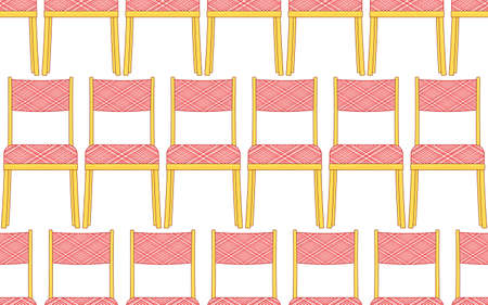 padded: Seamless pattern of the classic domestic padded chairs