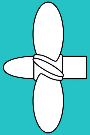 marine industry: Illustration of the marine propeller icon