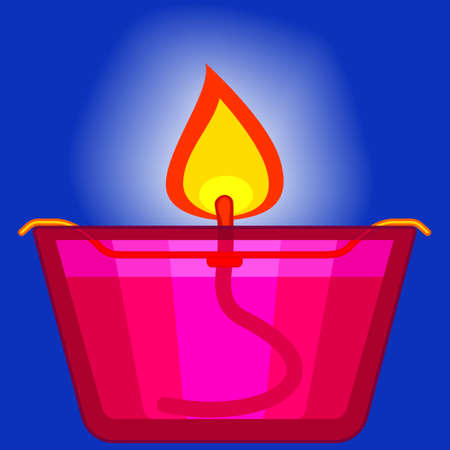 rite: Illustration of the oil lamp icon