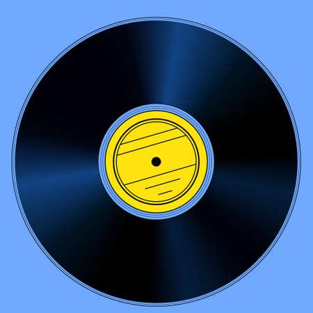 hi fi: Illustration of the gramophone record disk Illustration
