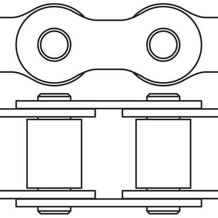 bike chain: Illustration of the seamless bike chain elements Illustration