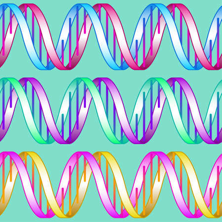 Seamless pattern of the abstract concept DNA simbols