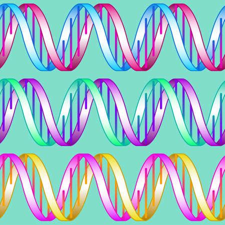 sin patrón de los simbols de ADN concepto abstracto