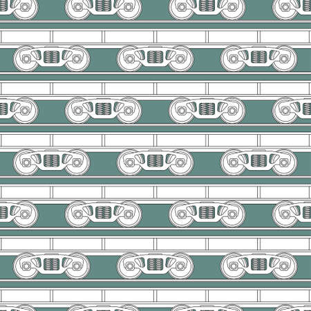 bogie: Seamless pattern of the railroad flatcars