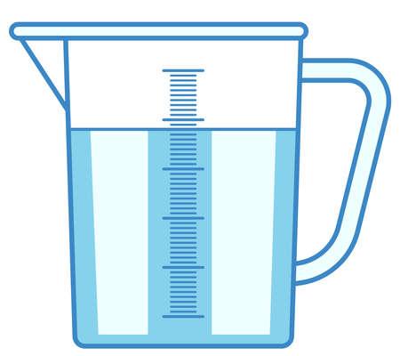 측정 용기 아이콘의 그림 벡터 (일러스트)