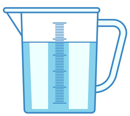 Illustration of the measuring jug icon Stock Illustratie