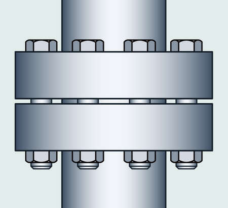 flange: Illustration of the flange connection