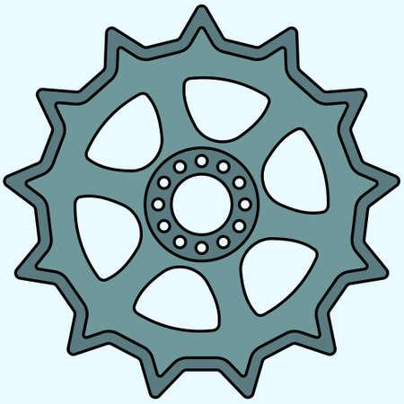 sprocket: Illustration of the sprocket wheel Illustration