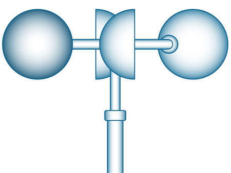 Illustration des Windes Anemometer Symbol Vektorgrafik