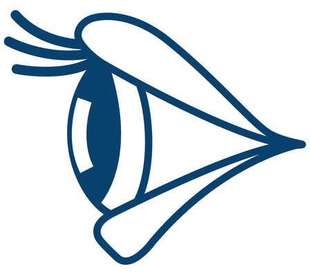 Ilustración de la vista lateral del ojo