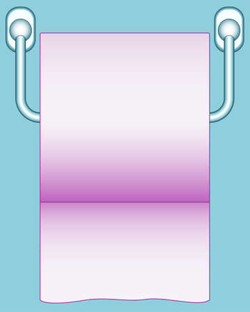 detachable: Illustration of the tissue or toilet paper icon Illustration