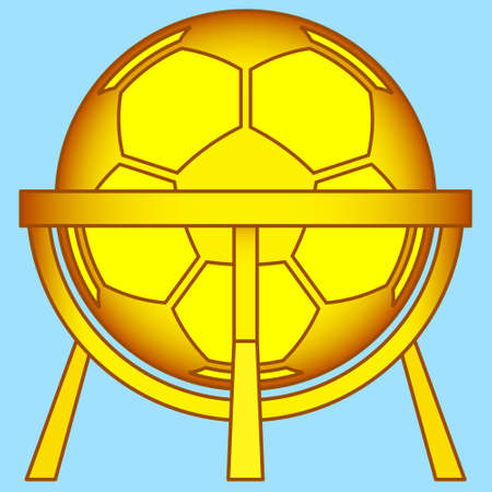 tournament bracket: Illustration of the abstract soccer ball on stand construction icon Illustration