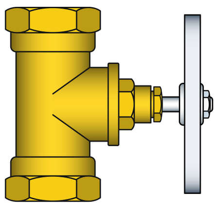 sanitary engineering: Illustration of the brass faucet icon